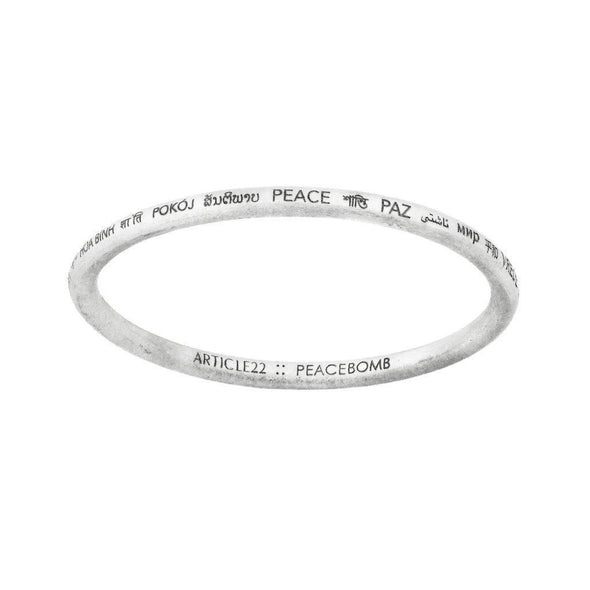 ARTICLE22 Peace All Around Bangle | Jewellery | Bangles | Australian Jewellery | Jewellery Store | Jewellery shops | men's jewelry | Online Jewellery | Gifts | Presents | Xmas Presents | Birthday Present | Wedding Gift | Upcycle Studio