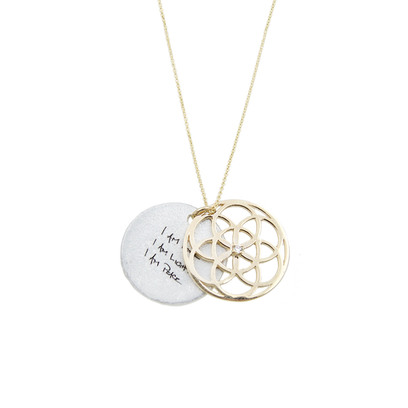 ARTICLE22 SEED OF LIFE Necklace 1.9cm 14K Gold with Diamond | Jewellery | necklaces | Australian Jewellery | Jewellery Store | Jewellery shops | Online Jewellery | Gifts | Presents | Xmas Presents | Birthday Present | Wedding Gift | silver chain | Upcycle Studio