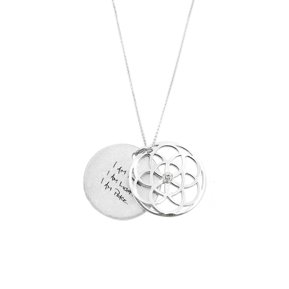 ARTICLE22 SEED OF LIFE Necklace 1.9cm with Diamond - Upcycle Studio