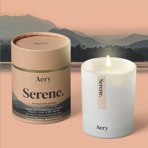 Aery Living Mindful 200g Soy Candle-Serene - Upcycle Studio