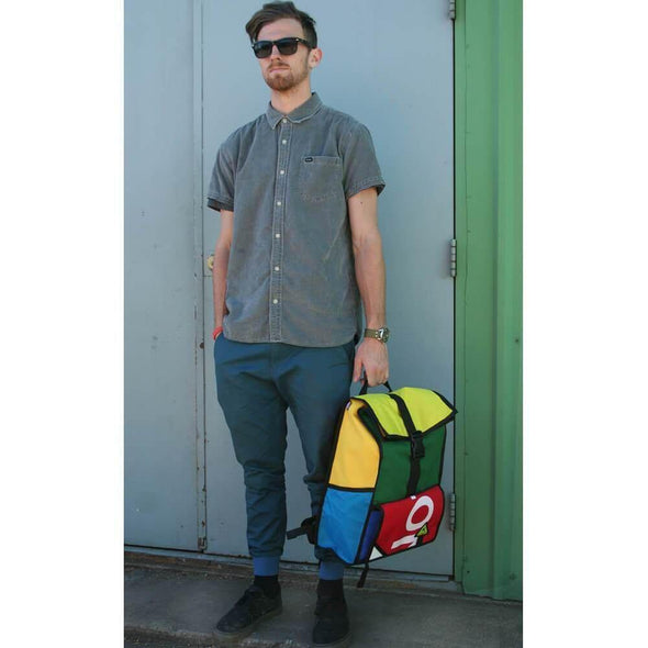 Green Guru Joyride 24L Roll Top Backpack - Upcycle Studio
