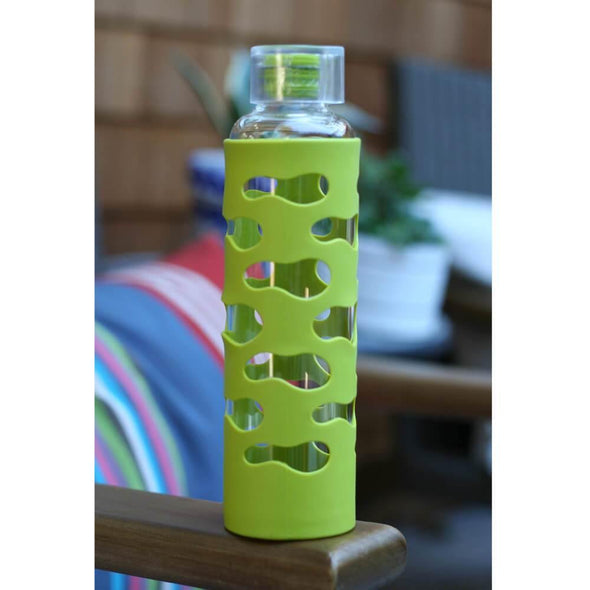 U-Konserve Glass Water Bottle 600ml - Lime