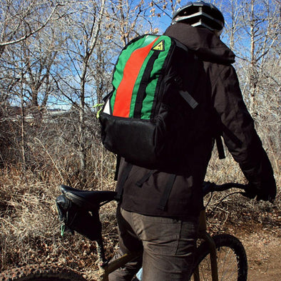 Green Guru Cyclopath Hydration 22L Bike Backpack - Upcycle Studio
