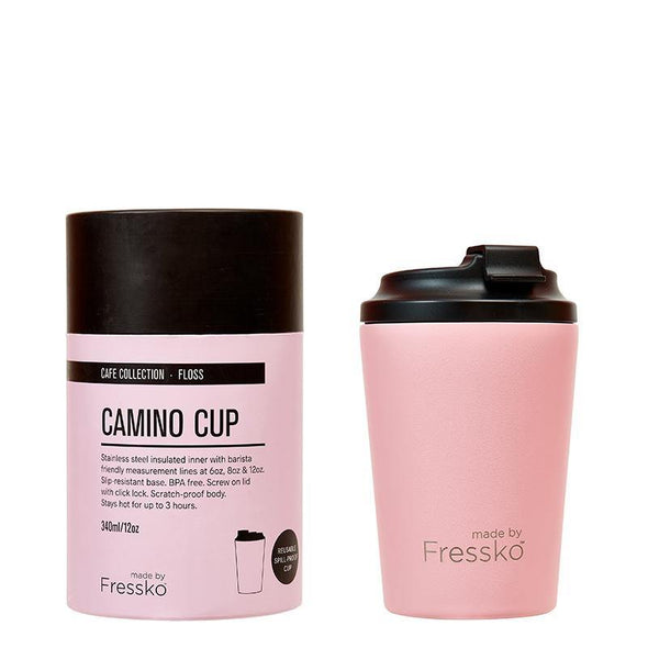 Fressko Camino Cup 12oz - Floss | Re Usable Coffee Cup | reusable cup | Take away Coffee Cup | Cafe Coffee Cup | Best Reusable coffee cup | Refillable Coffee Cup | Eco Coffee Cup | Camping cups | Kids cups | Cups | Reusable tea cup | personalised coffee cup Australia | online reusable coffee cup Australia | custom coffee cups | Upcycle Studio