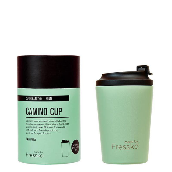 Fressko Camino Cup 12oz - Mint | Re Usable Coffee Cup | reusable cup | Take away Coffee Cup | Cafe Coffee Cup | Best Reusable coffee cup | Refillable Coffee Cup | Eco Coffee Cup | Camping cups | Kids cups | Cups | Reusable tea cup | personalised coffee cup Australia | online reusable coffee cup Australia | custom coffee cups | Upcycle Studio