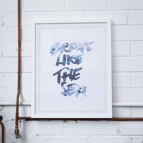 Rachel Kennedy A3 Print - Brave Like The Sea - Upcycle Studio