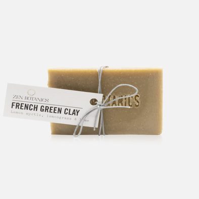 Zen Botanics Cleanse Bar - French Green Clay - Upcycle Studio