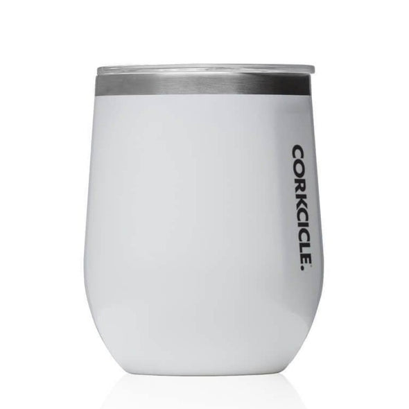 Corkcicle Stemless Reusable Cup Gloss White 12oz (355ml) - Upcycle Studio