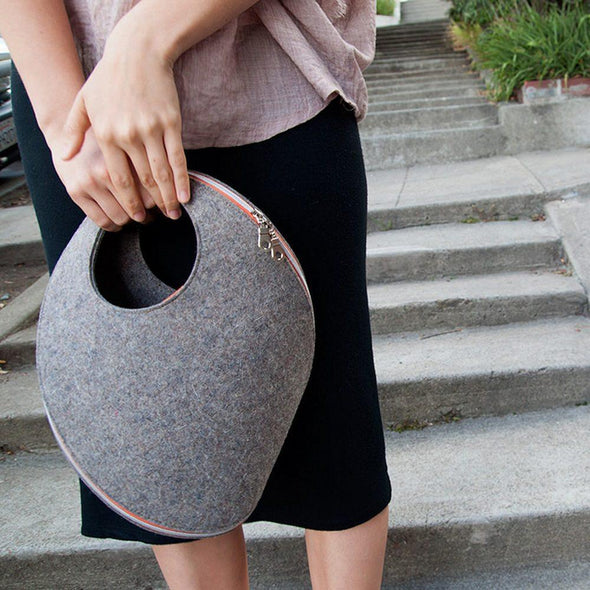Merino Wool Tote Bag - Upcycle Studio