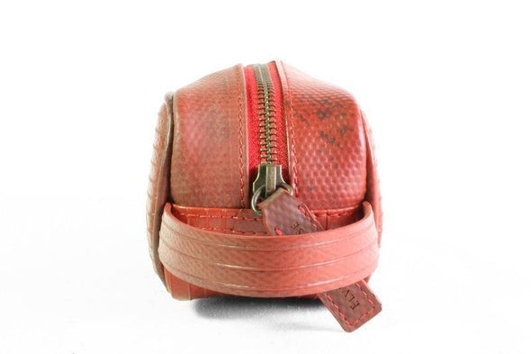Elvis & Kresse The Travel Accessories Bag - Red - Upcycle Studio