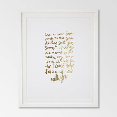 Rachel Kennedy Print Falling In Love Gold A3 - Upcycle Studio