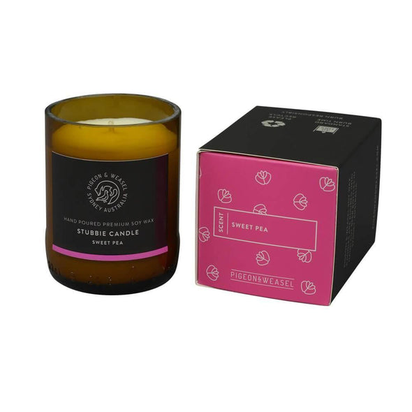 Sweet Pea Soy Candles | Pigeon & Weasel Sweet Pea Soy Candle - Small - Upcycle Studio