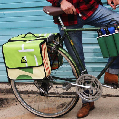 Green Guru Double Dutch Dual 40L Bike Pannier