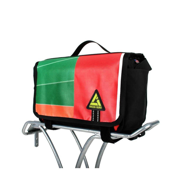 Green Guru Kickstand Cooler 9L Rear Rack Bike Bag - Upcycle Studio