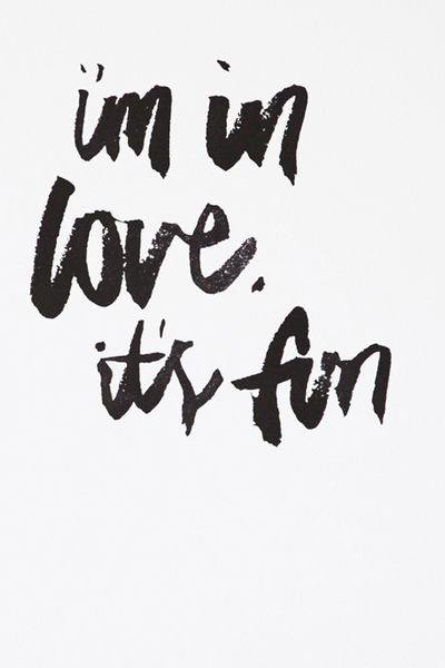 Rachel Kennedy A4 Print - i'm in love, it's fun - Upcycle Studio
