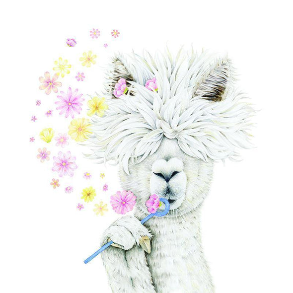 Summer Alpaca A3 Limited Edition Print + Frame - Upcycle Studio