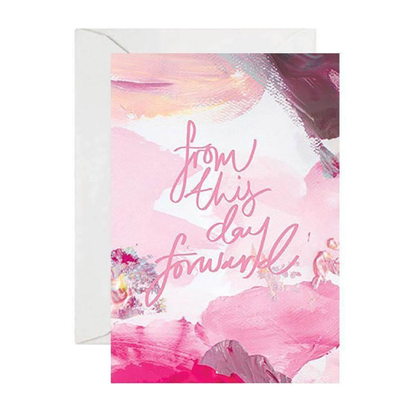 Rachel Kennedy Card - From This Day Forward - Wedding Card - Upcycle Studio