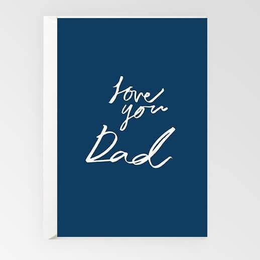 Rachel Kennedy Card Love You Dad Father's Day Card - Upcycle Studio
