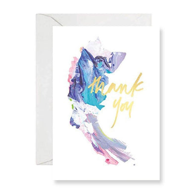 Rachel Kennedy Card - Thank You Card #3 - Swirl