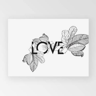 Rachel Kennedy Print - LOVE Black - Upcycle Studio