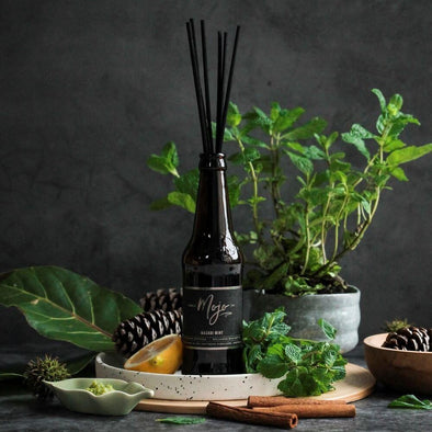 Mojo Beer Bottle Diffuser Wasabi Mint - Upcycle Studio