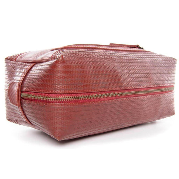 Elvis and Kresse The Big Wash Bag - Red - Upcycle Studio