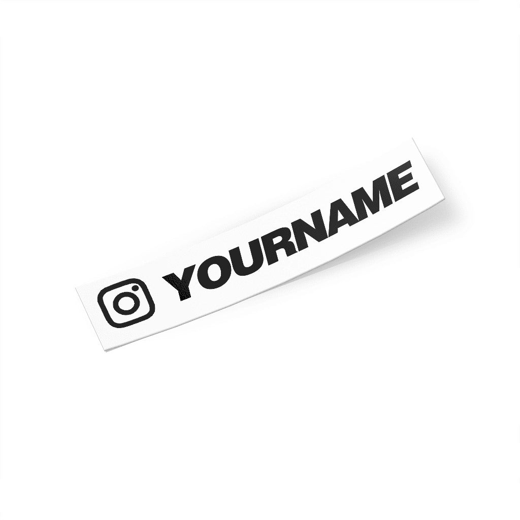 Custom Social Media Sticker Account Name Decal - Virtual Modifications