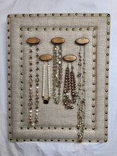 Load image into Gallery viewer, Linen Jewelry Organizer
