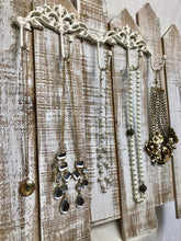 Load image into Gallery viewer, White-Washed Fence Jewelry Organizer
