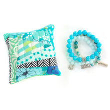 Load image into Gallery viewer, Capri - Pin Cushion and I Love Sewing Bracelet Set