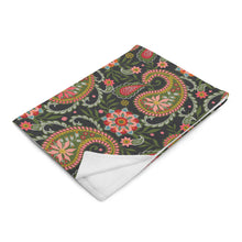 Load image into Gallery viewer, Christmas Paisley Throw Blanket