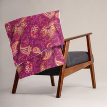 Load image into Gallery viewer, Boysenberry Paisley Blanket