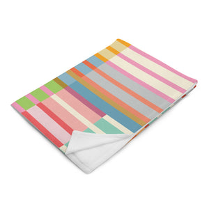 Multicolored Stripes Throw Blanket