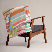 Load image into Gallery viewer, Multicolored Stripes Throw Blanket