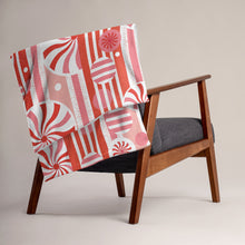 Load image into Gallery viewer, Peppermint Twist Throw Blanket