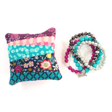 Load image into Gallery viewer, Raspberry - Pin Cushion and Bracelet Set