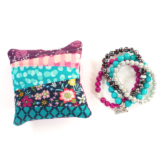Raspberry - Pin Cushion and Bracelet Set