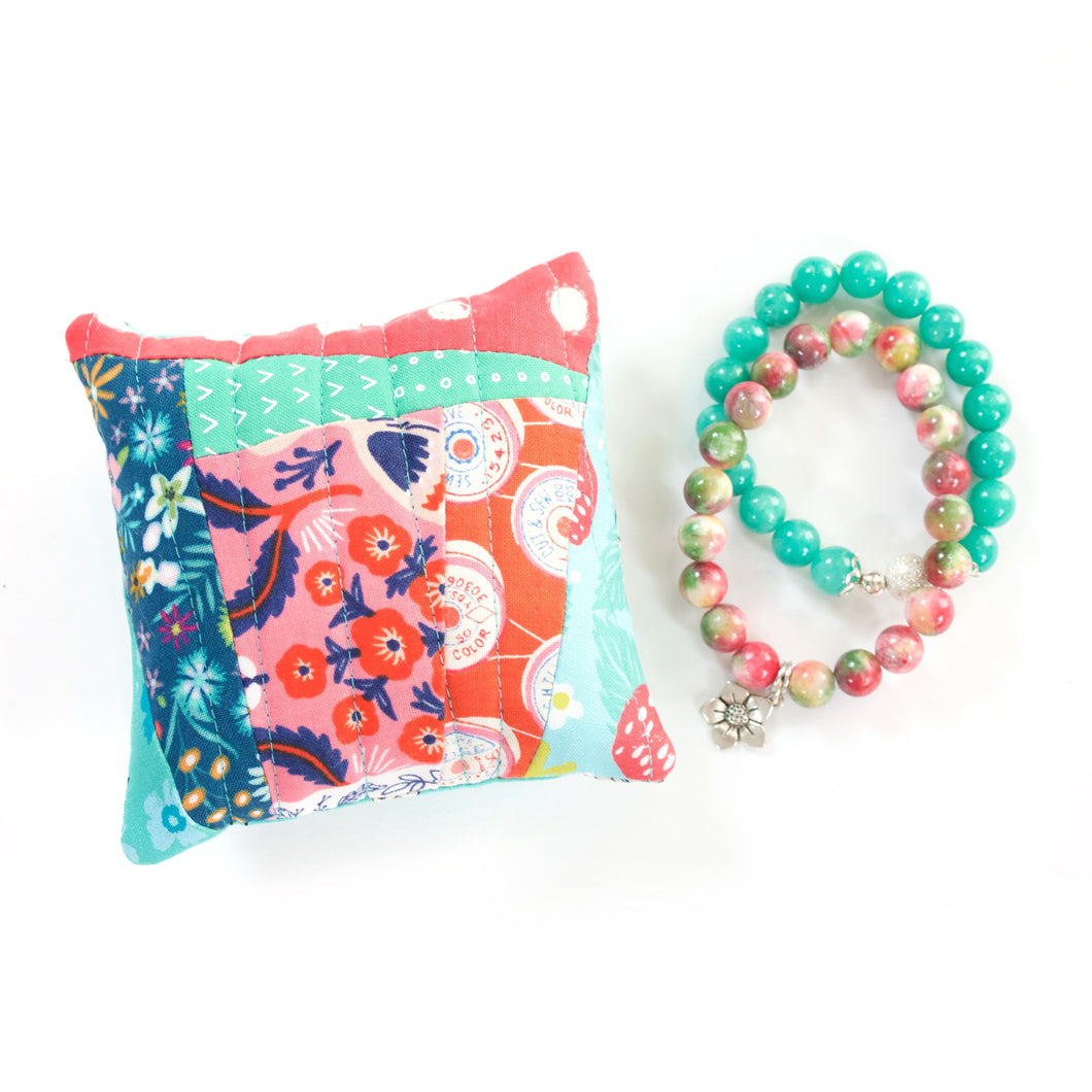 Strawberry - Pin Cushion and Bracelet Set