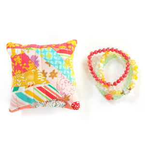 Strawberry Lemon - Pin Cushion and Bracelet Set