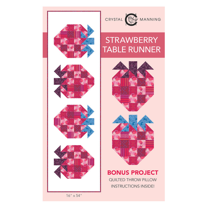 Strawberry Table Runner PDF Pattern