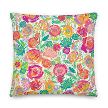 Load image into Gallery viewer, Painted Garden Pillow