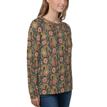 Load image into Gallery viewer, Poinsettias and Paisleys Sweatshirt