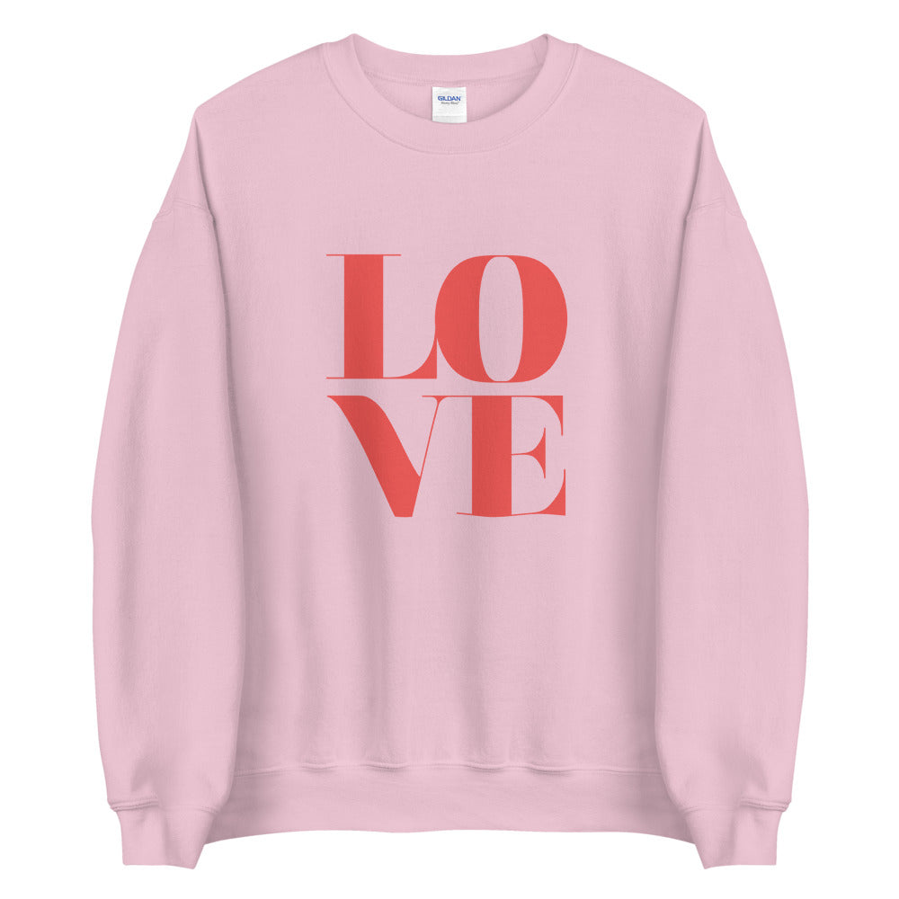 Love in Pink Sweatshirt