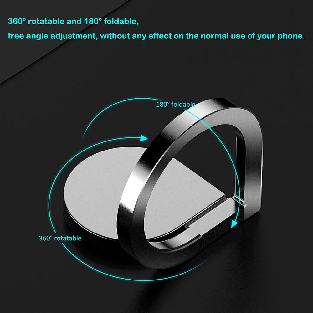 Powstro  Magnetic Metal Finger Ring Stand 360 Rotating Mount Mobile Phone Drip Grip Universal for smartphone - Modern Materials
