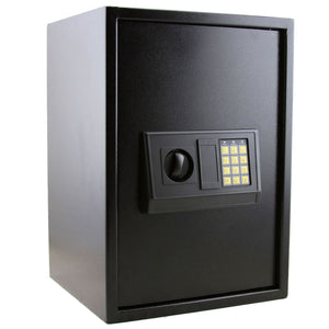 E50EA Home Use Electronic Password Steel Plate Safe Box Black - Modern Materials