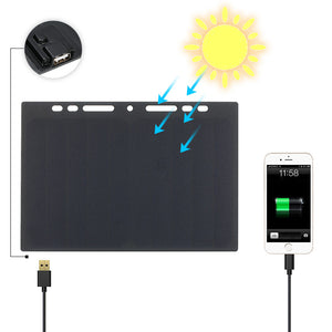 10W Portable Silicon Solar Panel Charger USB Port for Cell Phone - Modern Materials