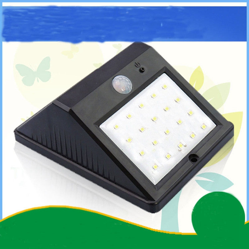 20LED Solar Panel Powered Motion Sensor Lamp Outdoor Light Garden Security Wall Light for Patio, Deck, Yard - Modern Materials