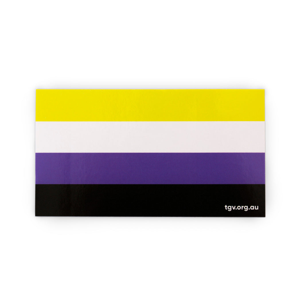 Non-Binary Flag Sticker