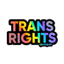 Load image into Gallery viewer, Trans Rights Holographic Sticker