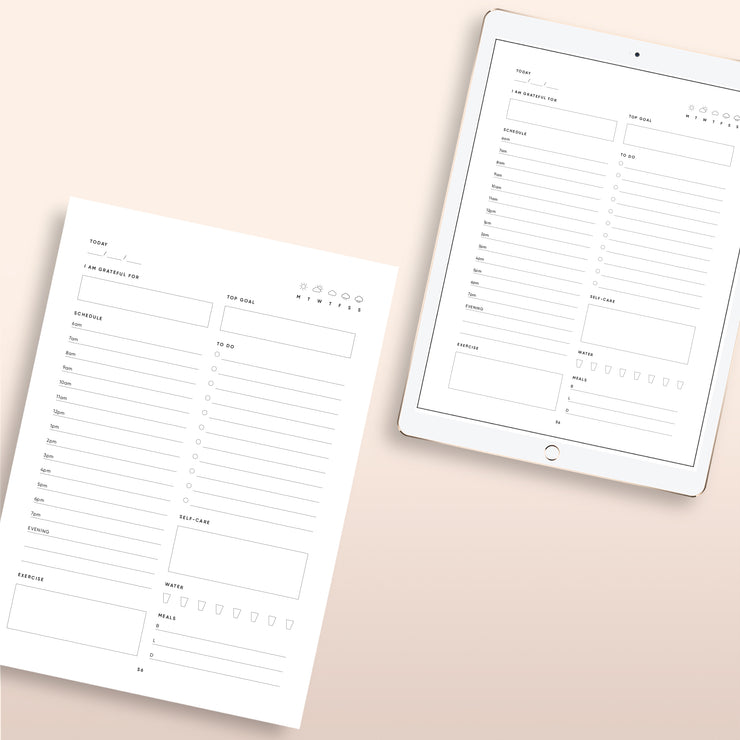 The Self-Care Planner, Digital Download